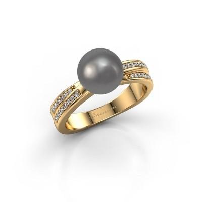 Foto van Ring Jolies 375 goud grijze parel 8 mm