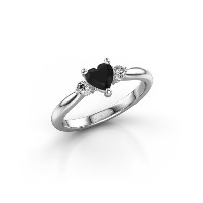 Foto van Verlovingsring Lieselot HRT 925 zilver zwarte diamant 0.71 crt
