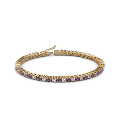 Tennis bracelet Petra 375 gold amethyst 3 mm