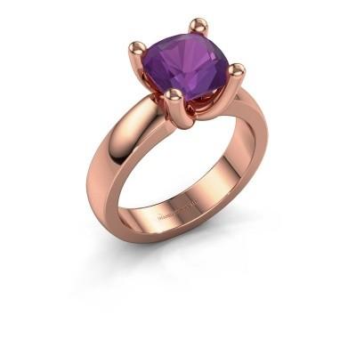 Ring Clelia CUS 585 rosé goud amethist 8 mm