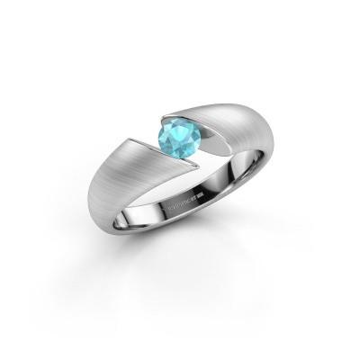 Foto van Ring Hojalien 1 585 witgoud blauw topaas 4.2 mm