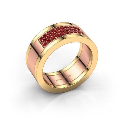 Ring Marita 3 585 rosé goud robijn 1.3 mm