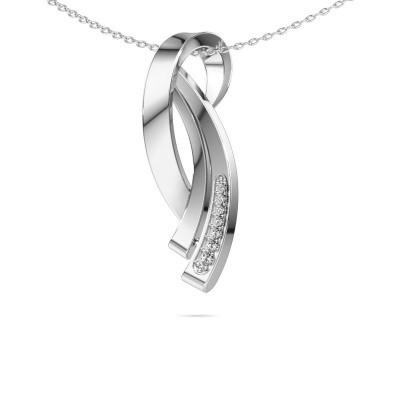 Foto van Ketting Lida 585 witgoud diamant 0.064 crt