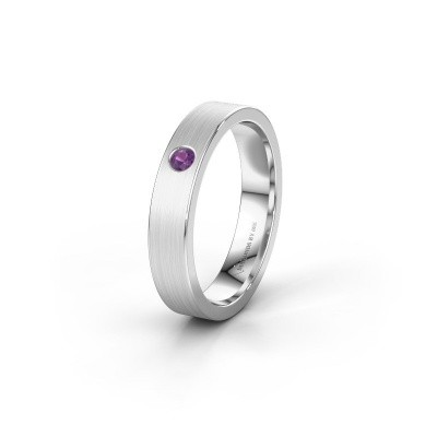 Picture of Wedding ring WH0101L14AM 375 white gold amethyst ±0.16x0.07 in