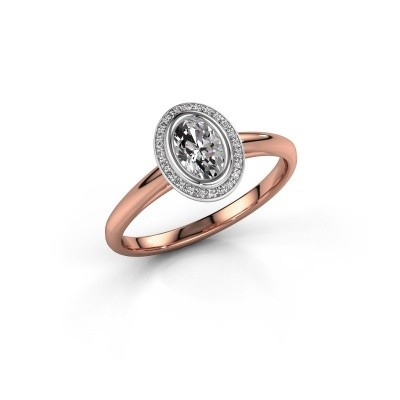 Verlovingsring Noud 1 OVL 585 rosé goud lab-grown diamant 0.56 crt