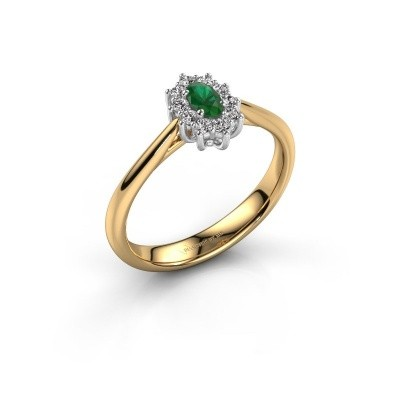 Picture of Engagement ring Leesa 1 585 gold emerald 5x4 mm