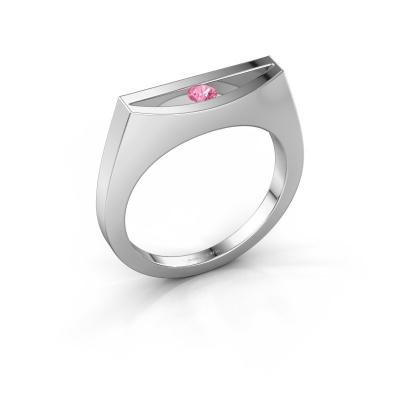 Ring Milou 950 platinum pink sapphire 3 mm