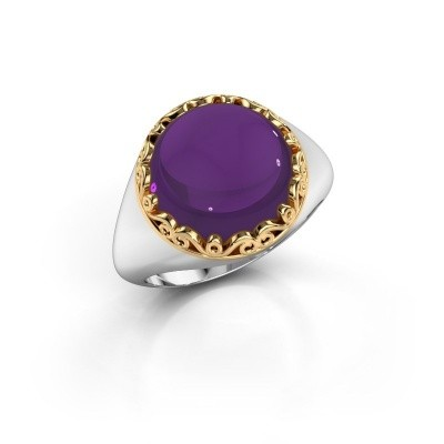 Picture of Ring Birgit 585 white gold amethyst 12 mm