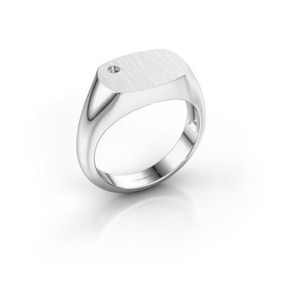 Foto van Heren ring Bram 2 925 zilver diamant 0.03 crt