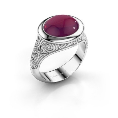 Foto van Ring Natacha 375 witgoud rhodoliet 12x10 mm