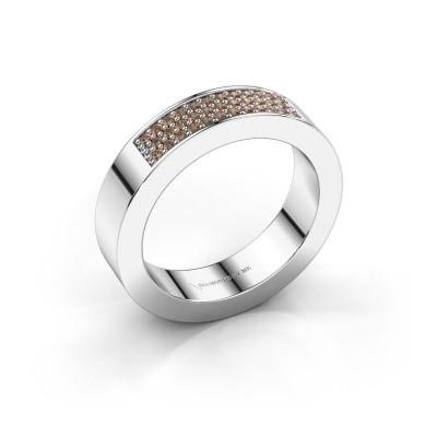 Foto van Ring Lindsey 1 585 witgoud bruine diamant 0.235 crt