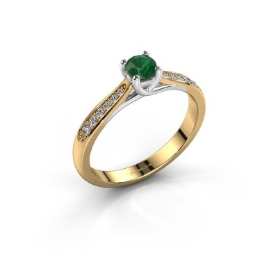 Picture of Engagement ring Mia 2 585 gold emerald 4.2 mm