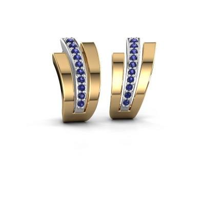 Earrings Emeline 585 white gold sapphire 1.1 mm