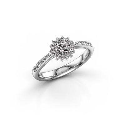 Verlovingsring Tilly RND 2 585 witgoud diamant 0.25 crt