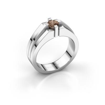 Foto van Heren ring Kiro 585 witgoud bruine diamant 0.50 crt