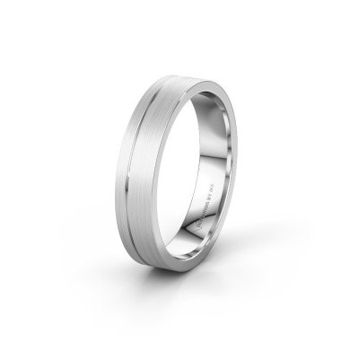 Wedding ring WH0158M14XM 585 white gold ±0.18x0.06 in