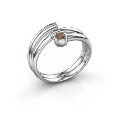 Ring Jenna 925 Silber Braun Diamant 0.10 crt