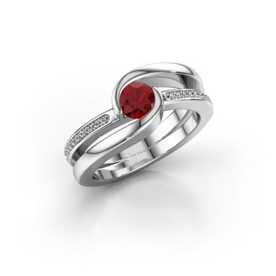 Picture of Ring Xenia 375 white gold ruby 5 mm