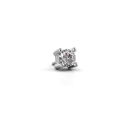 Photo de Boucle d'oreille homme Tijmen 585 or blanc diamant 0.70 crt