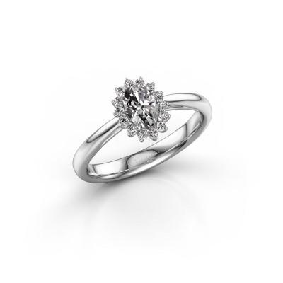 Photo de Bague de fiançailles Tilly 1 585 or blanc diamant 0.50 crt