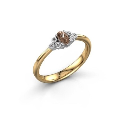 Picture of Engagement ring Lucy 1 585 gold brown diamond 0.572 crt