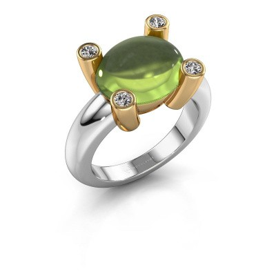 Ring Janice OVL 585 white gold peridot 12x10 mm