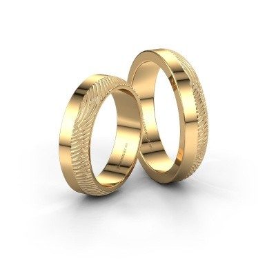 Picture of Wedding rings set WHR0424LM ±0.16x0.08 in gold