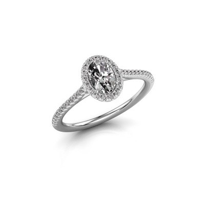 Foto van Verlovingsring Seline ovl 2 925 zilver diamant 0.71 crt