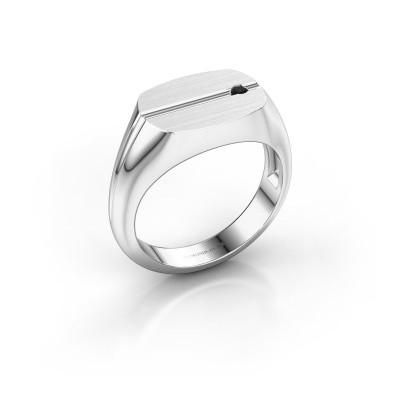 Foto van Herenring Stijn 925 zilver zwarte diamant 0.036 crt