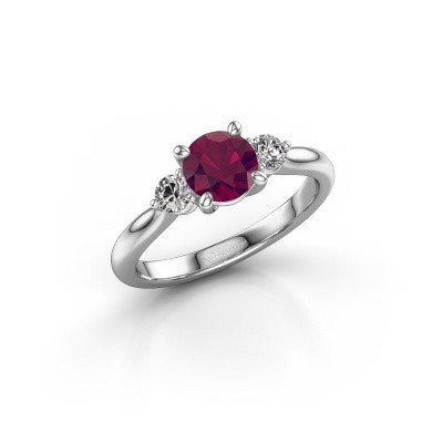 Picture of Engagement ring Lieselot RND 925 silver rhodolite 6.5 mm