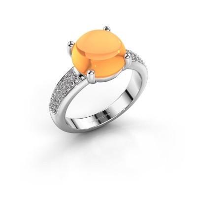 Foto van Ring Sophie 950 platina citrien 10 mm