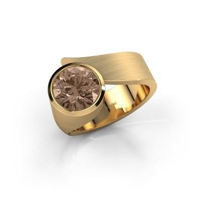 Foto van Ring Nakia 585 goud bruine diamant 2.00 crt