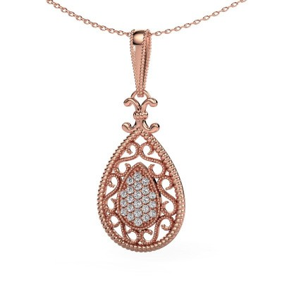 Foto van Hanger Tammie 585 rosé goud diamant 0.27 crt