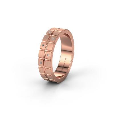 Vriendschapsring WH2011L 375 rosé goud diamant ±5x1.8 mm