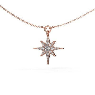 Picture of Necklace Star 375 rose gold lab-grown diamond 0.29 crt