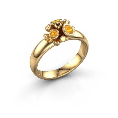 Ring Pameila 585 goud citrien 2 mm