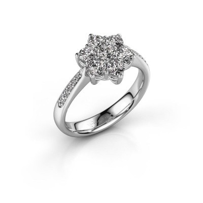 Picture of Engagement ring Chantal 2 585 white gold diamond 0.10 crt