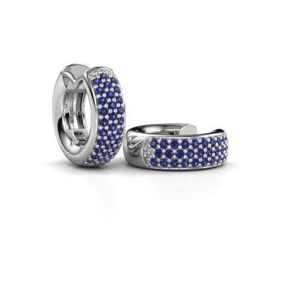 Picture of Hoop earrings Lana 925 silver sapphire 1.1 mm