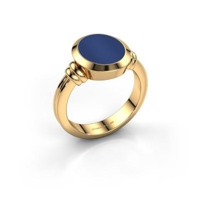 Foto van Zegelring Jake 2 585 goud lapis lazuli 12x10 mm
