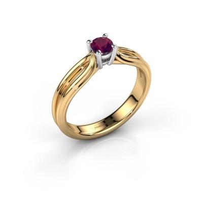 Verlovingsring Antonia 1 585 goud rhodoliet 4 mm
