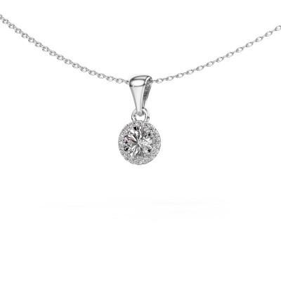 Hanger Seline rnd 950 platina diamant 0.59 crt
