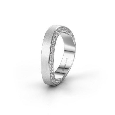 Trouwring WH2029AM 585 witgoud diamant ±5x2.2 mm