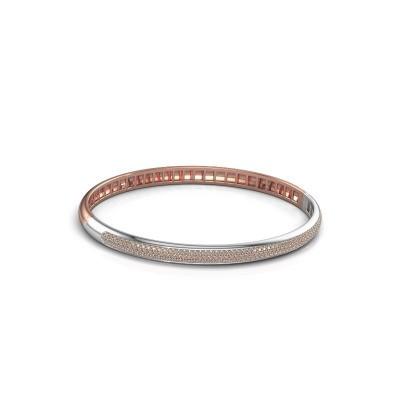 Foto van Armband Emely 5mm 585 rosé goud bruine diamant 1.178 crt