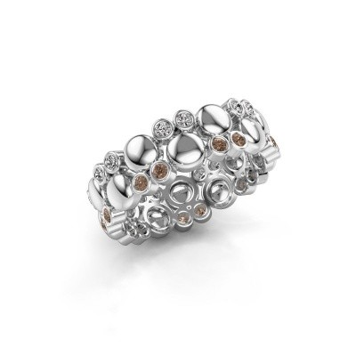 Ring Joanne 950 Platin Braun Diamant 0.336 crt
