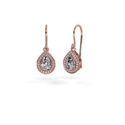 Drop earrings Beverlee 1 375 rose gold diamond 1.41 crt