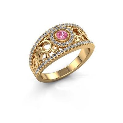 Foto van Ring Lavona 585 goud roze saffier 3.4 mm