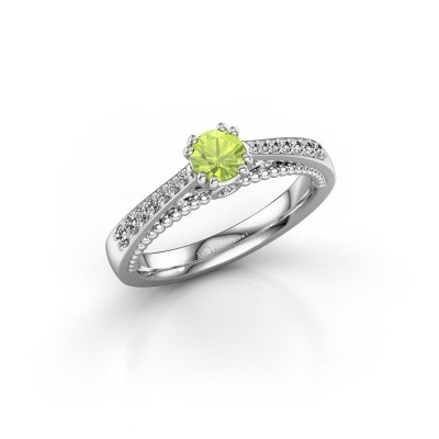 Picture of Engagement ring Rozella 585 white gold peridot 4.2 mm