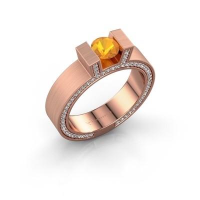 Foto van Ring Leena 2 375 rosé goud citrien 5 mm