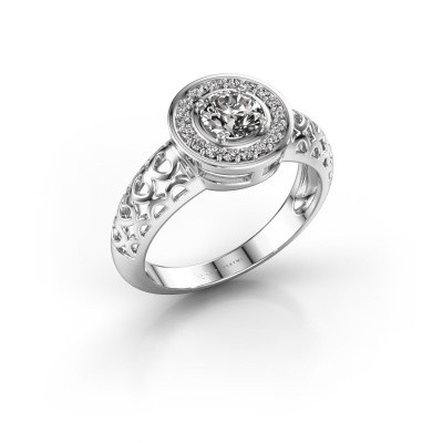 Foto van Ring Katalina 375 witgoud lab-grown diamant 0.62 crt