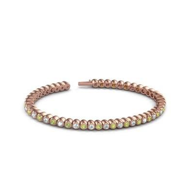 Tennisarmband Patrica 375 rosé goud peridoot 2.4 mm
